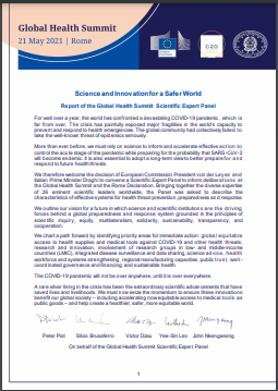 Report of the Global Health Summit Scientific Expert Panel